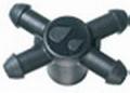 Adapter 4-fach, Mehrfachverteiler Microschlauch 3/5, für Nippelauslass