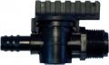Absperrventil für Leitungen 16/17 mm, 16 x 3/4 AG