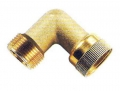 Messing Überwurfverschraubung Winkel 90°, 1 IG/AG