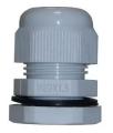 Kabelverschraubung M20 x 1,5 grau mit Gegenmutter Kunststoff